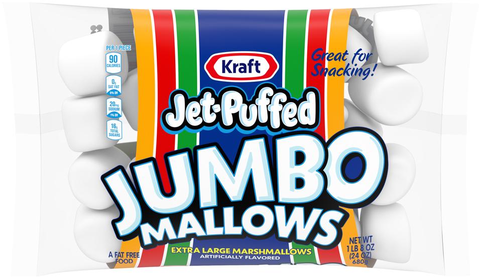 Jet-Puffed Jumbo Mallows Marshmallow 24OZ 8-Pack