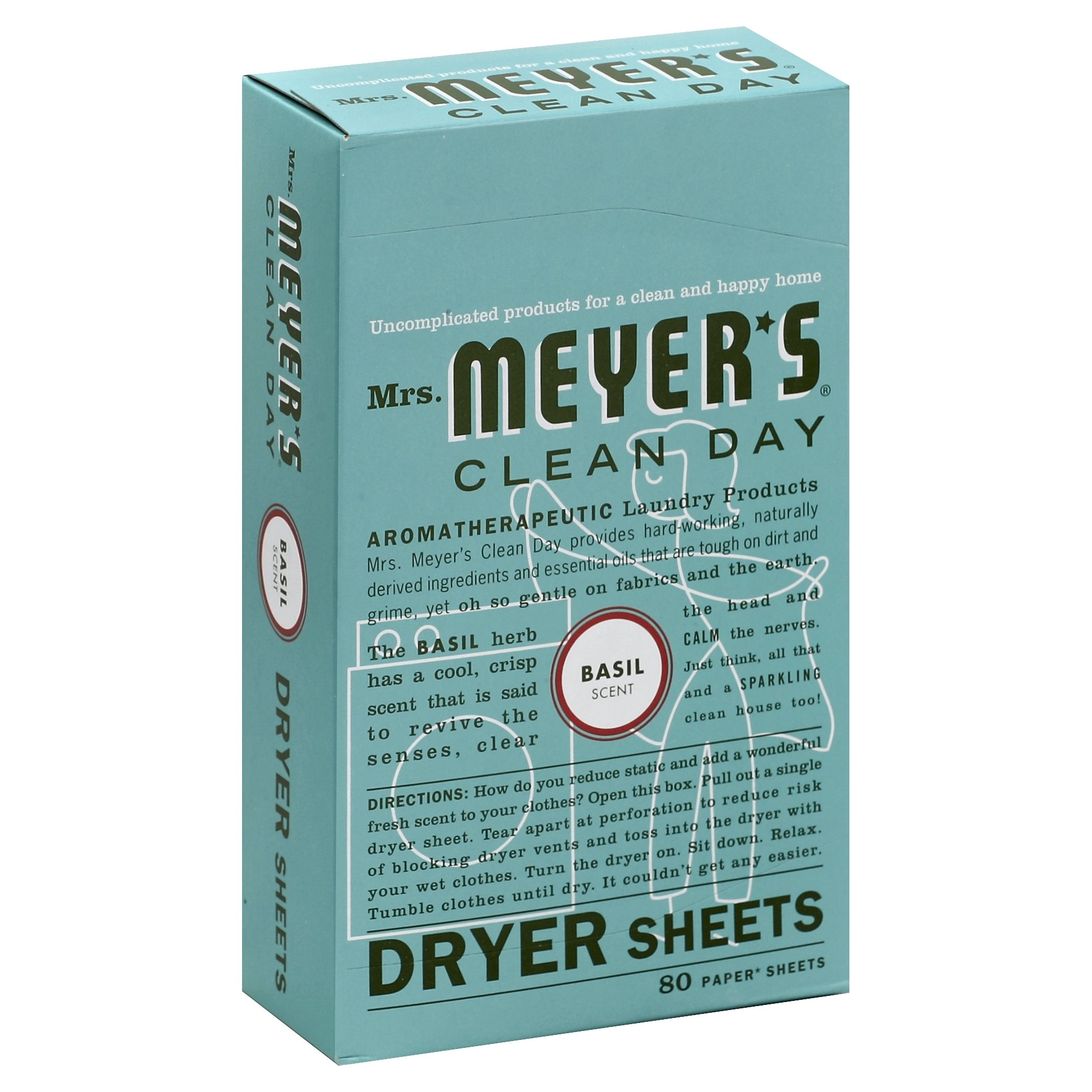 Mrs. Meyers Clean Day Basil Dryer S 12-Pack