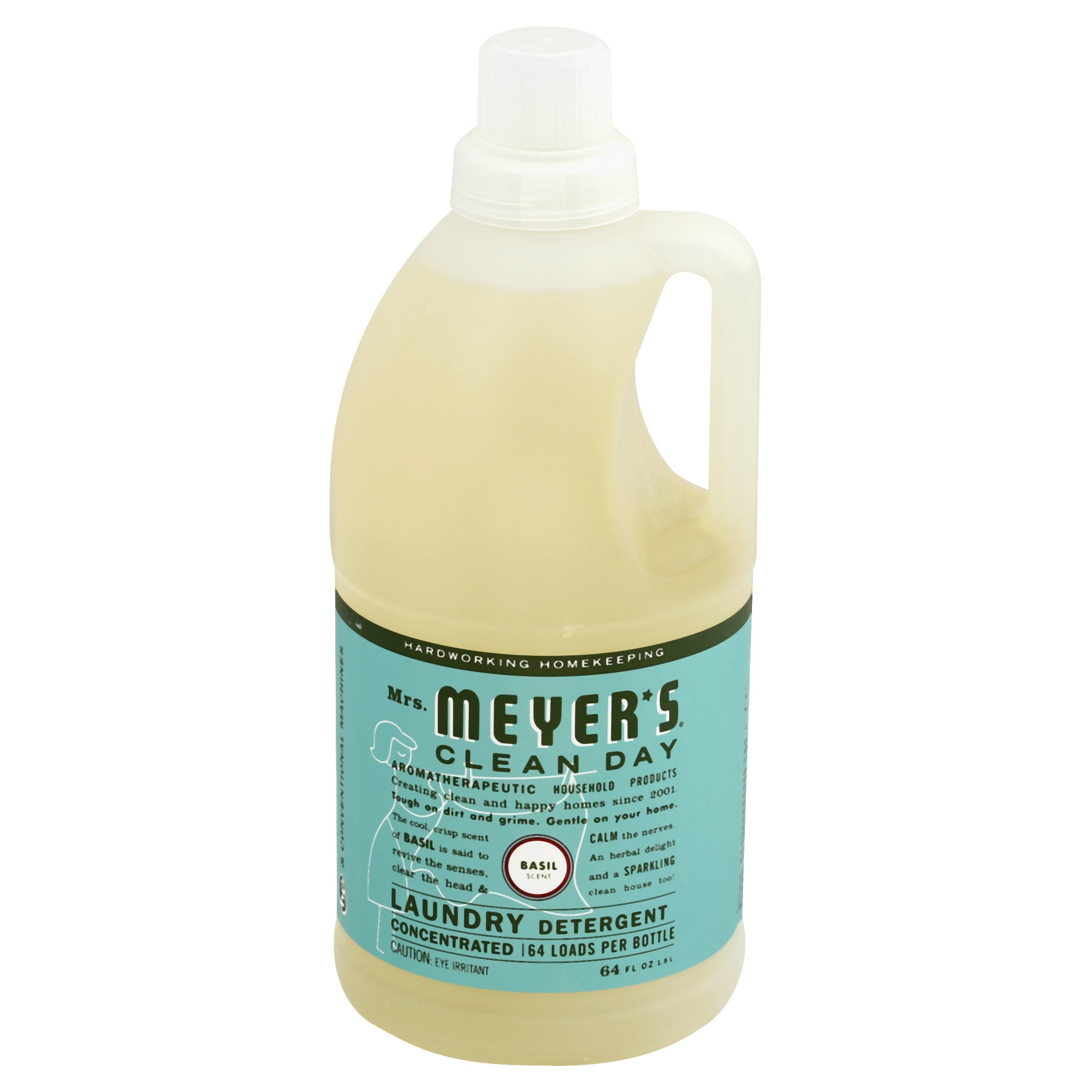 Mrs. Meyers Basil Laundry Detergent 64OZ 6-Pack