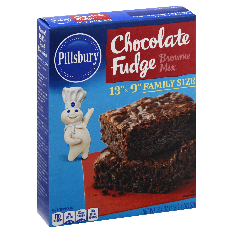 Pillsbury Chocolate Fudge Brownie Mix 18.4 OZ 12-Pack