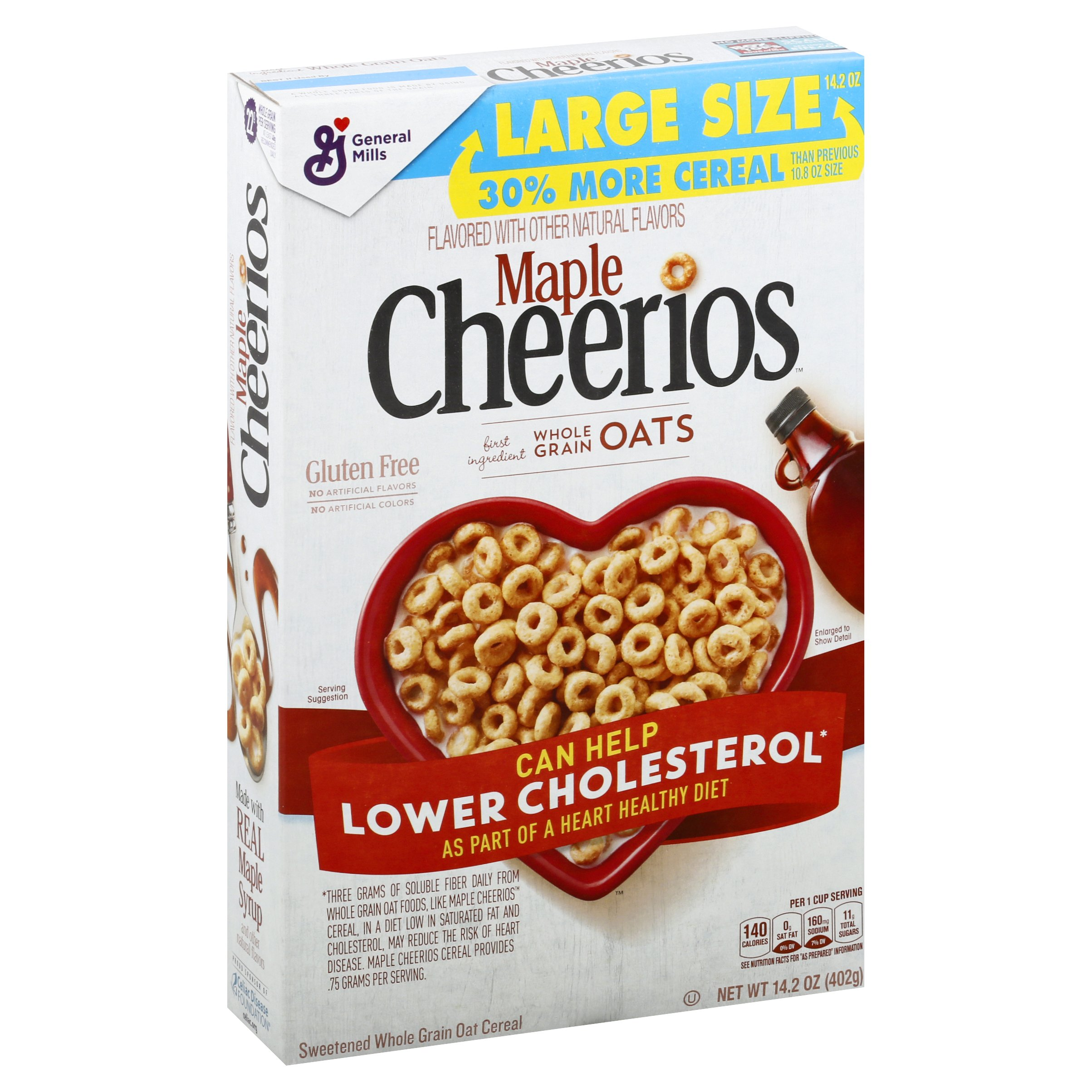 Cheerios Maple Cereal 14.2 OZ 8-Pack