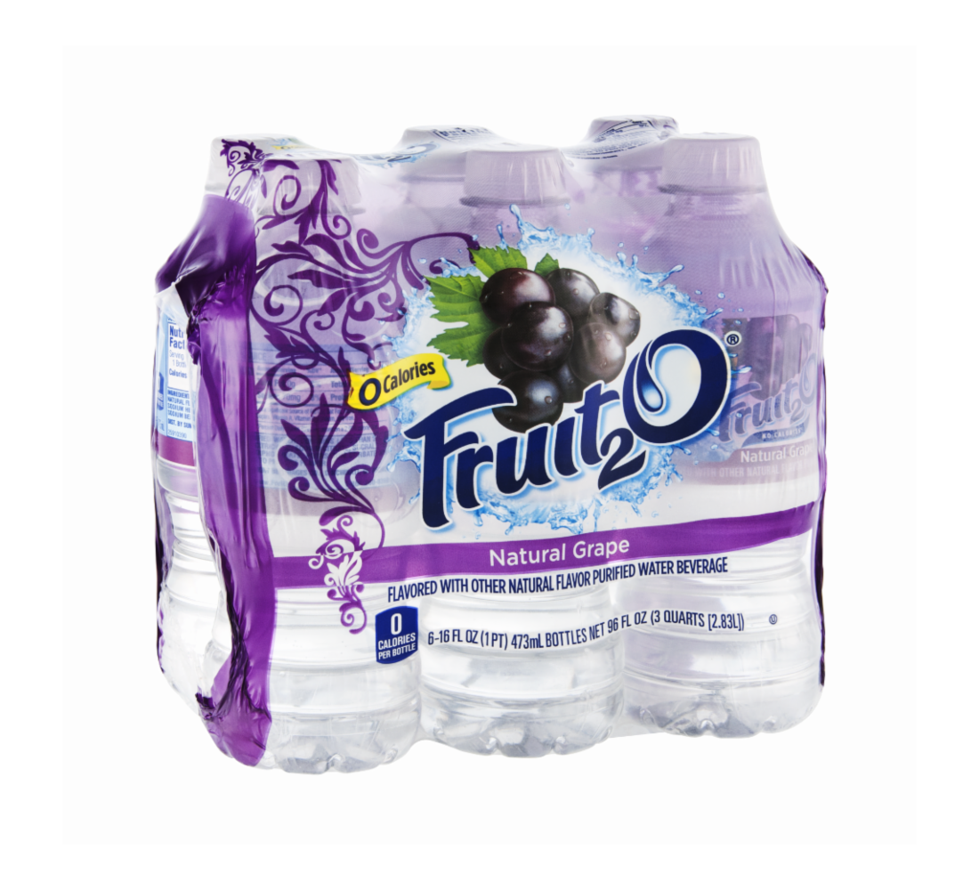 Fruit2O Natural Grape Flavored Water 96.0 OZ 4-Pack