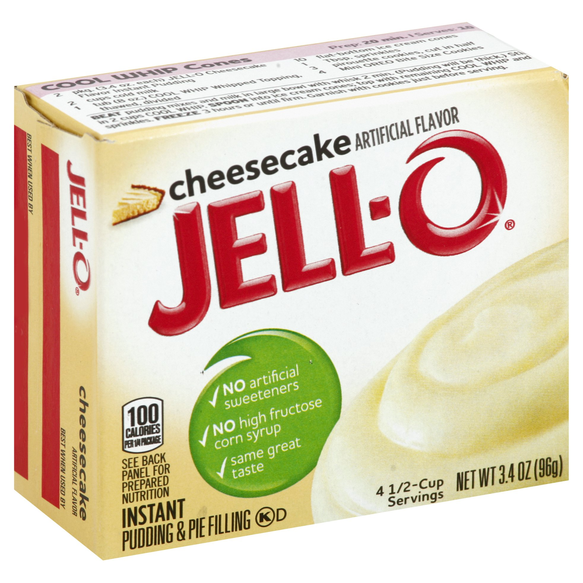 JELL-O Cheesecake Instant Pudding Mix 3.4 OZ   24-Pack