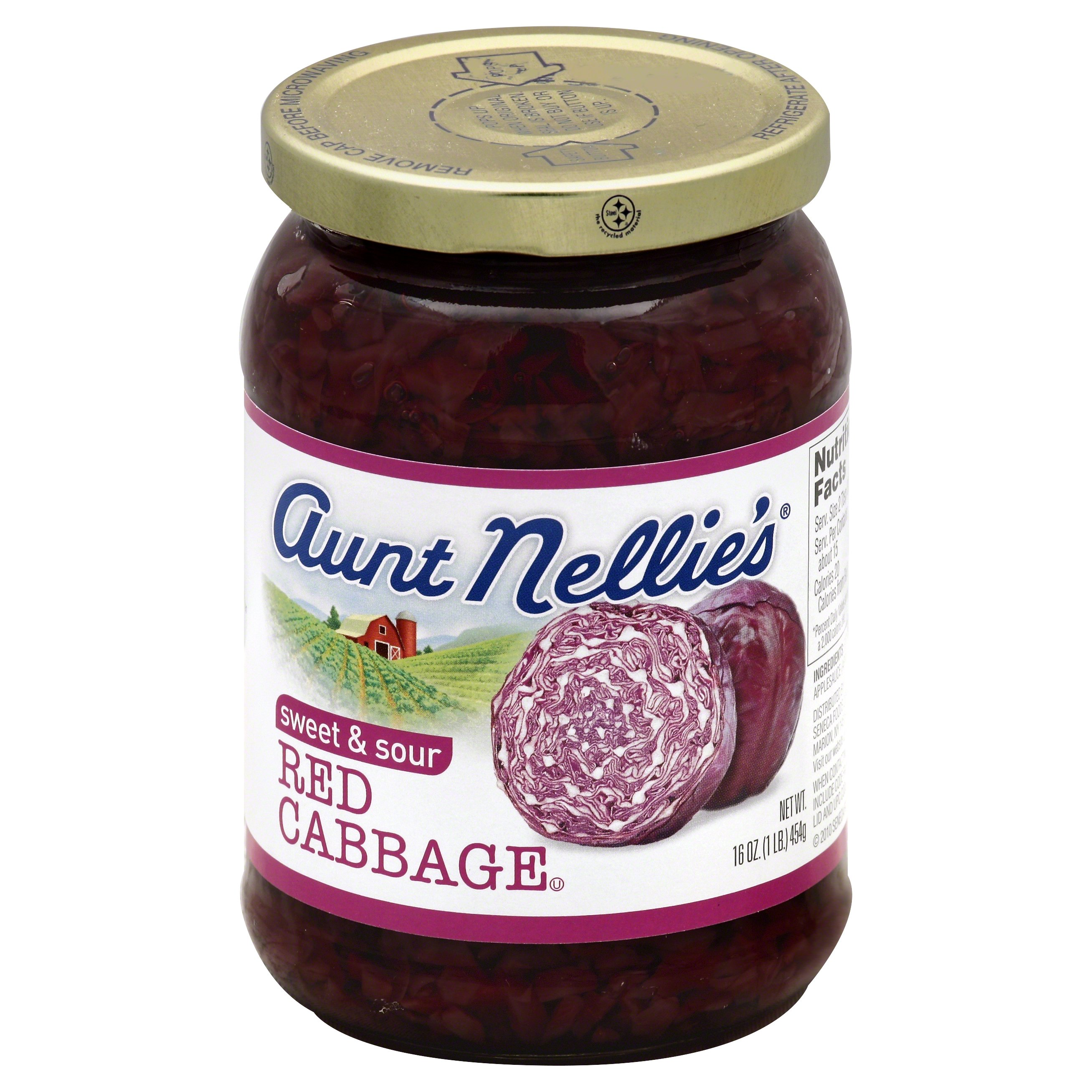 Aunt Nellies Sweet & Sour Red Cabbage 16.0 OZ 12-Pack