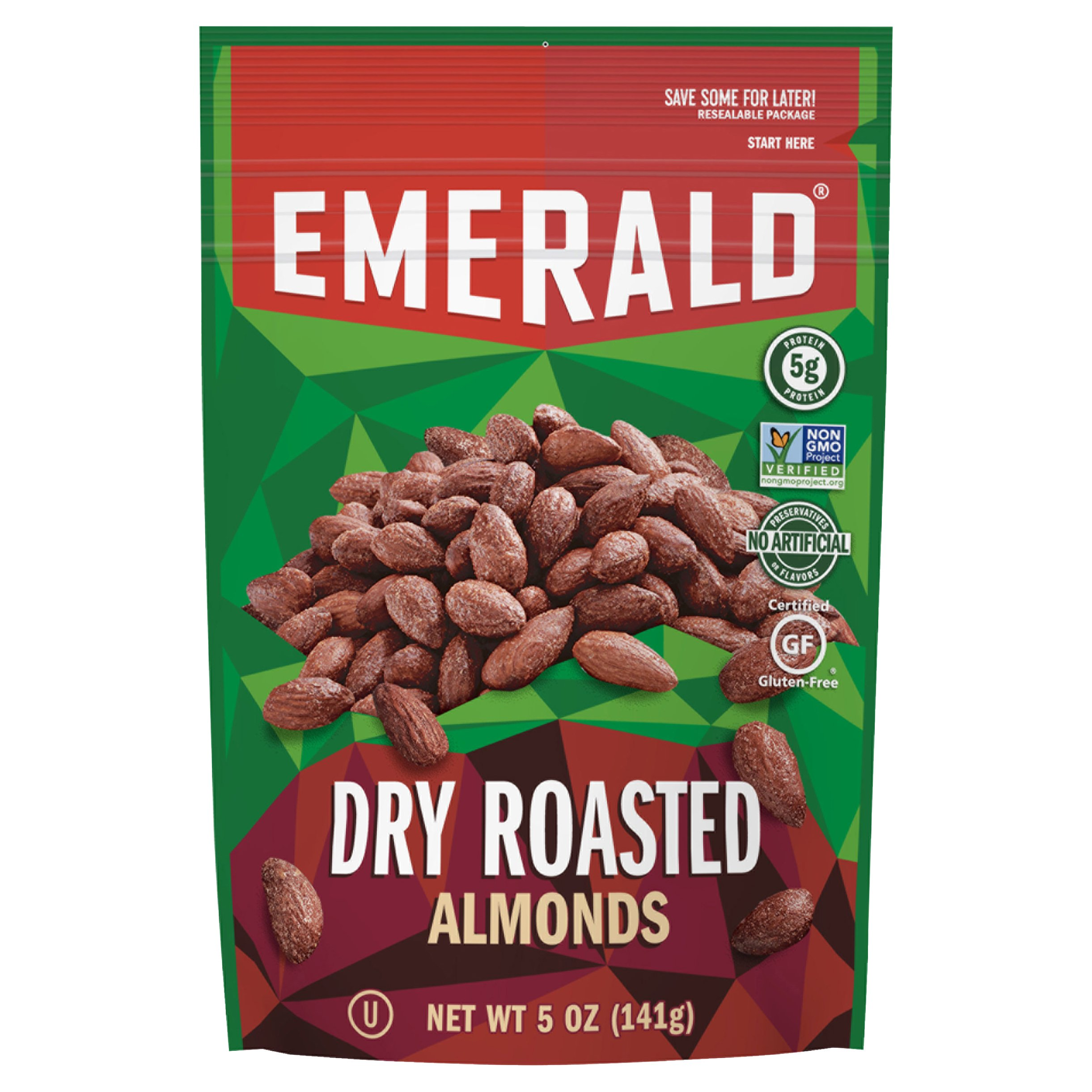 Emerald Dry Roasted Almonds 5OZ 6-Pack