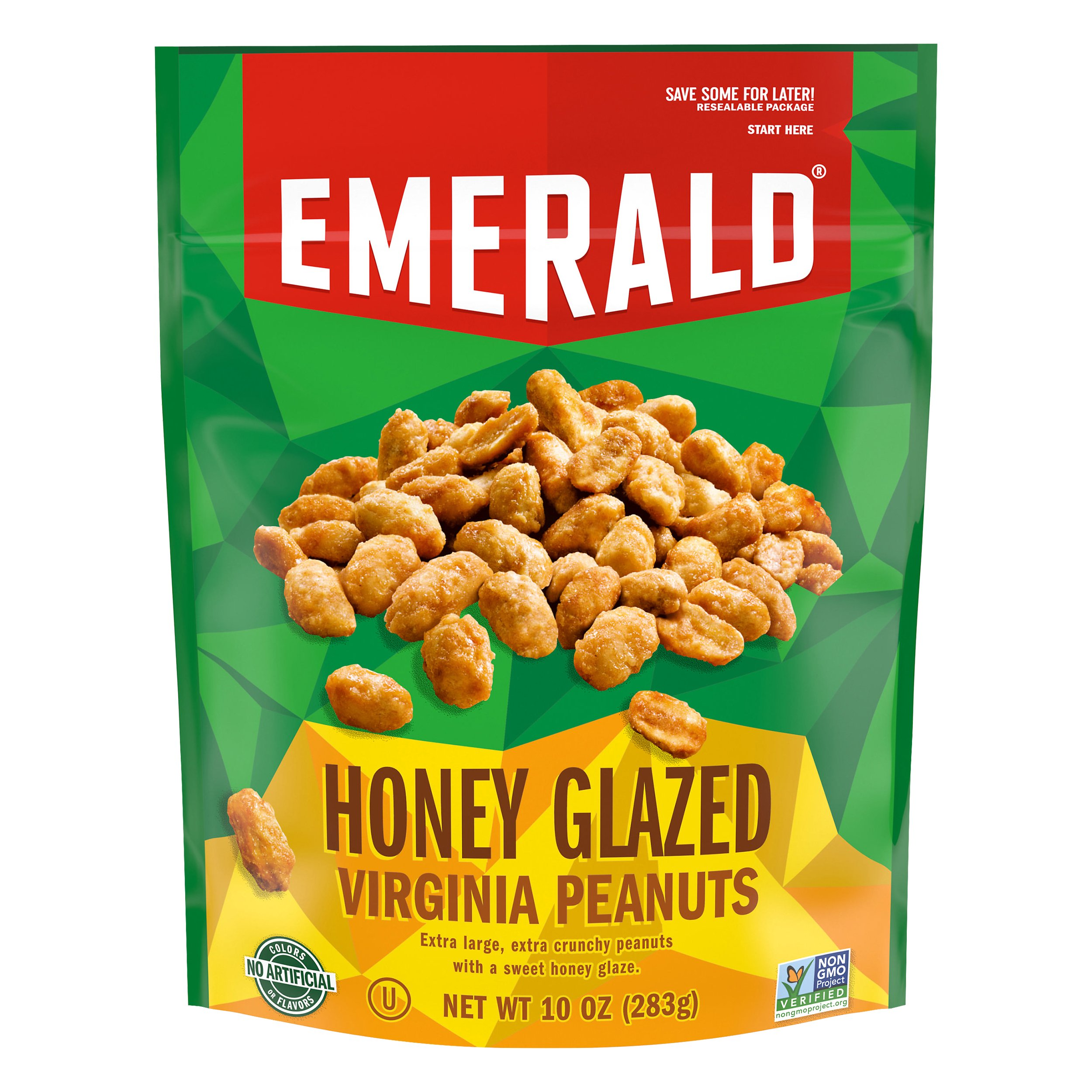 Emerald Honey Roasted Virginia Peanuts 10OZ 6-Pack
