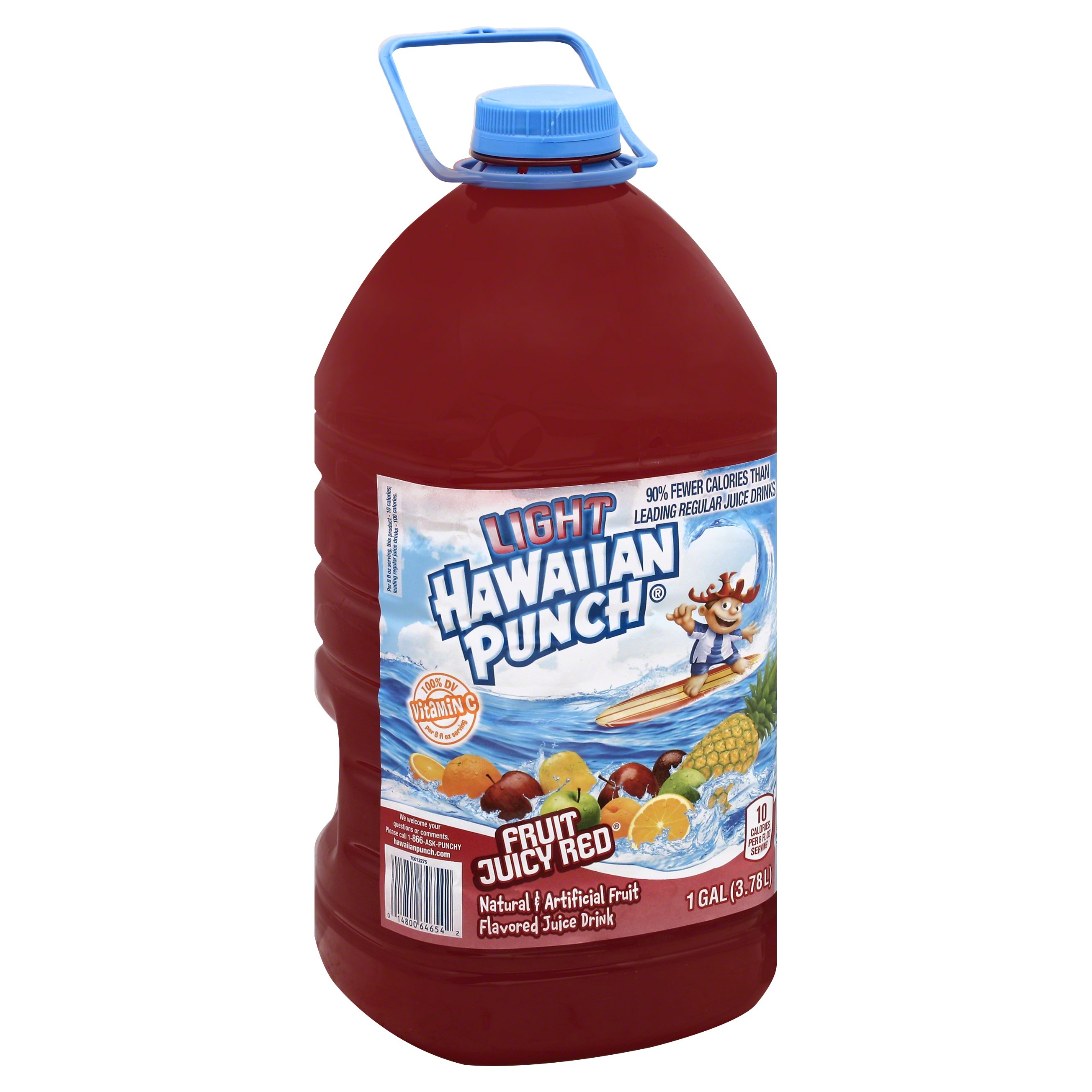 Hawaiian Punch Light Fruit Juicy Red 128OZ 4-Pack