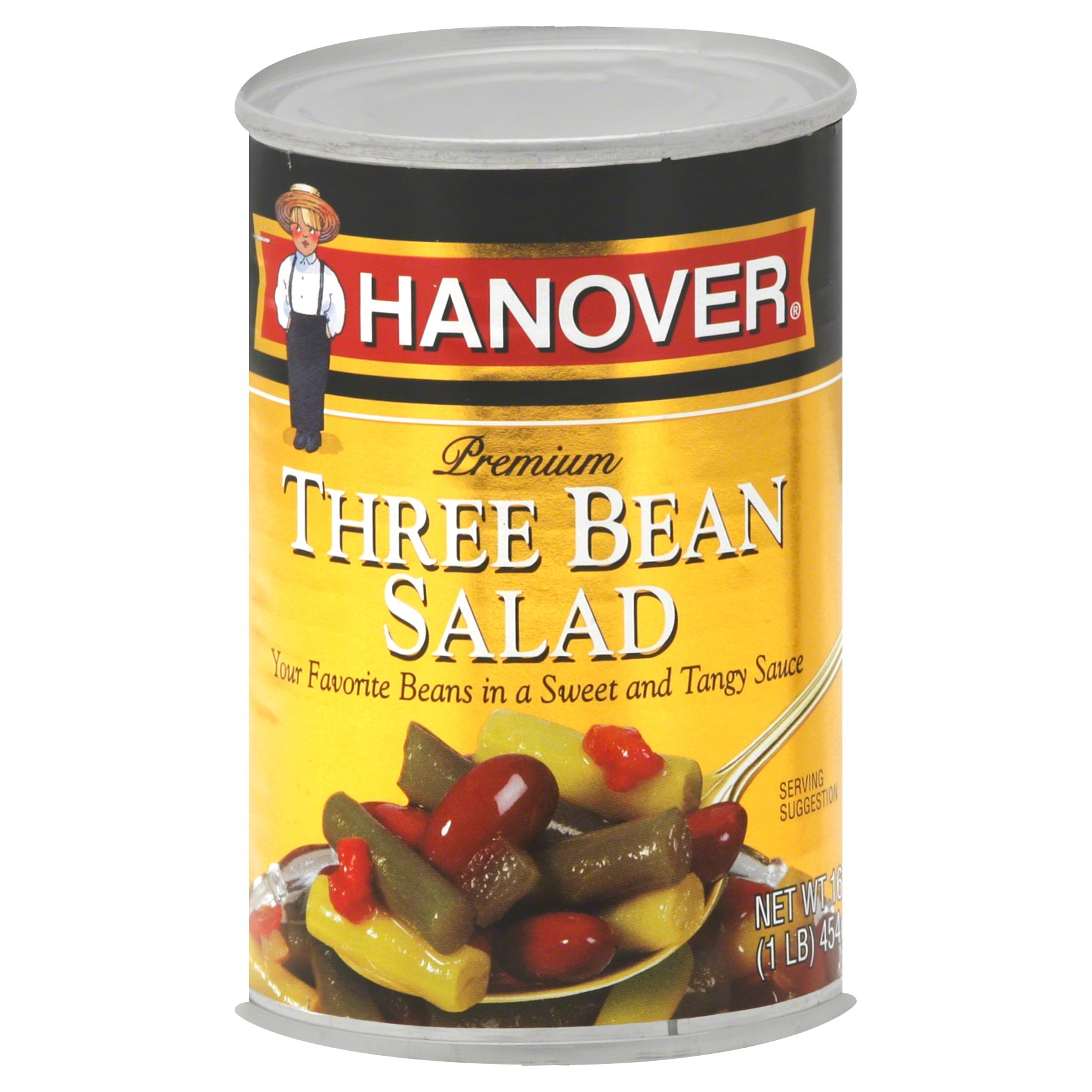 Hanover Premium Three Bean Salad 16OZ 12-Pack
