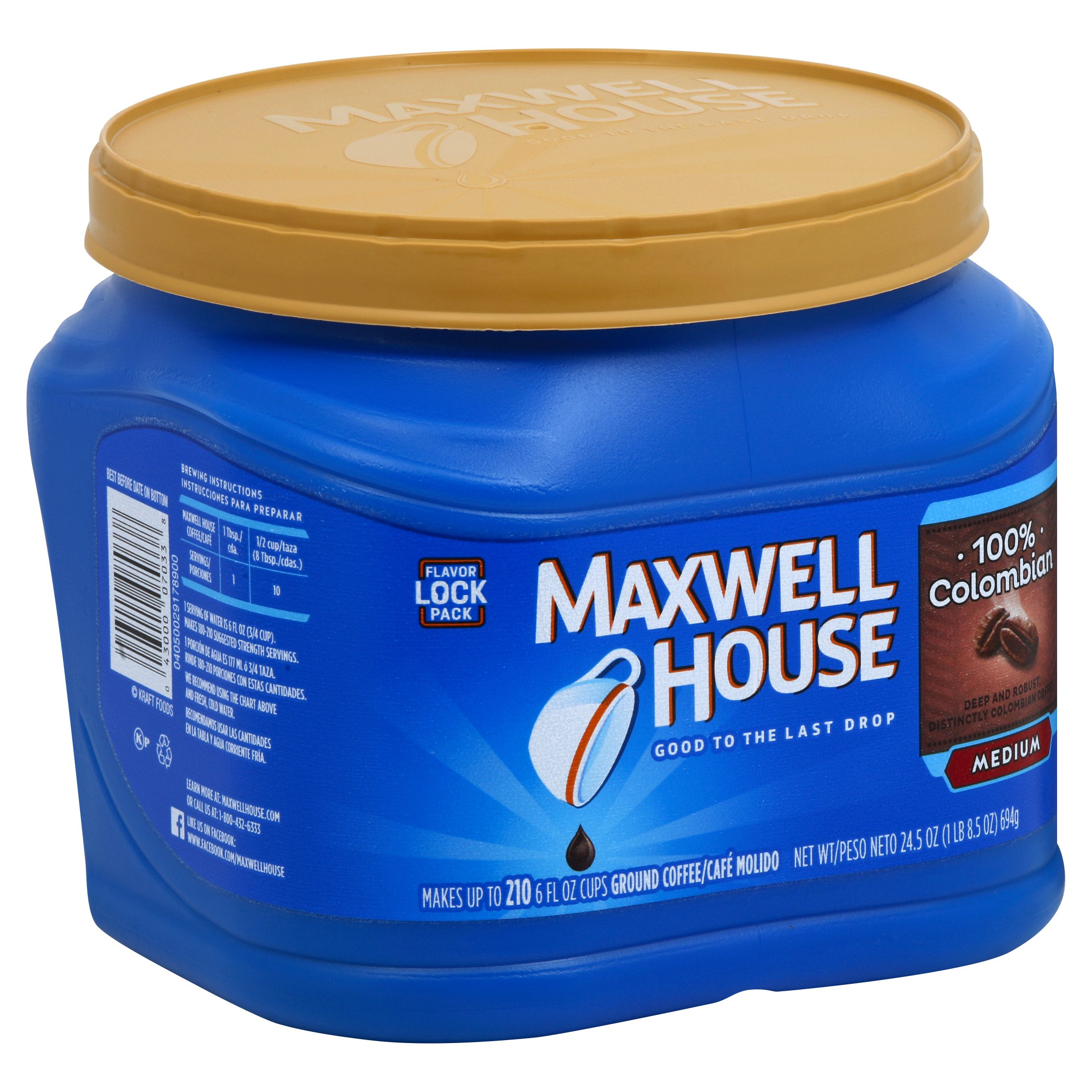 Maxwell House 100% Colombian Medium 24OZ 6-Pack