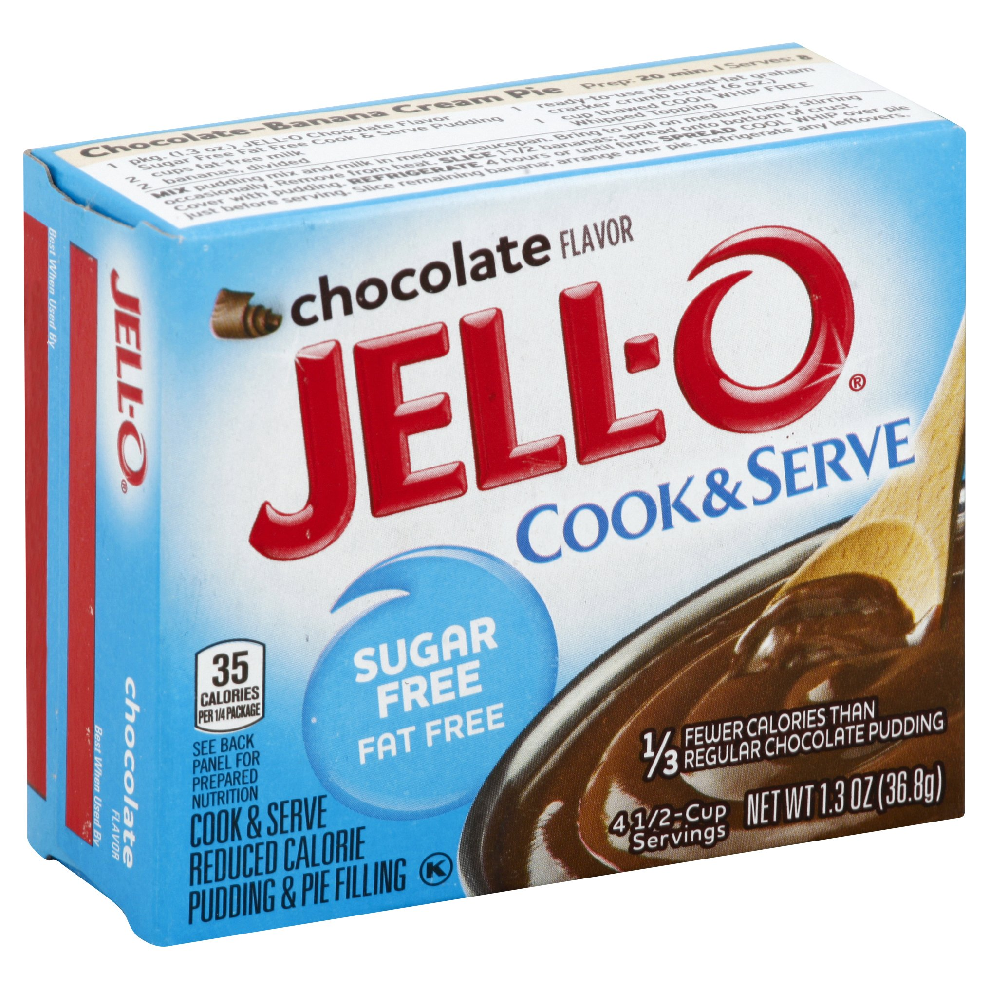 Jell-O Chocolate Sugar Free Fat Free 1OZ 24-Pack