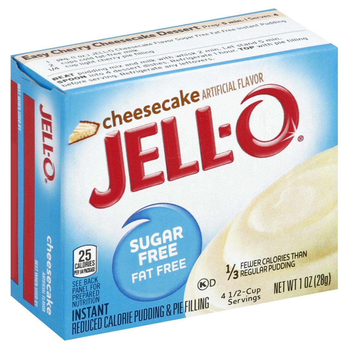 JELL-O Cheesecake Sugar Free Fat Free Puddi 1OZ 24-Pack
