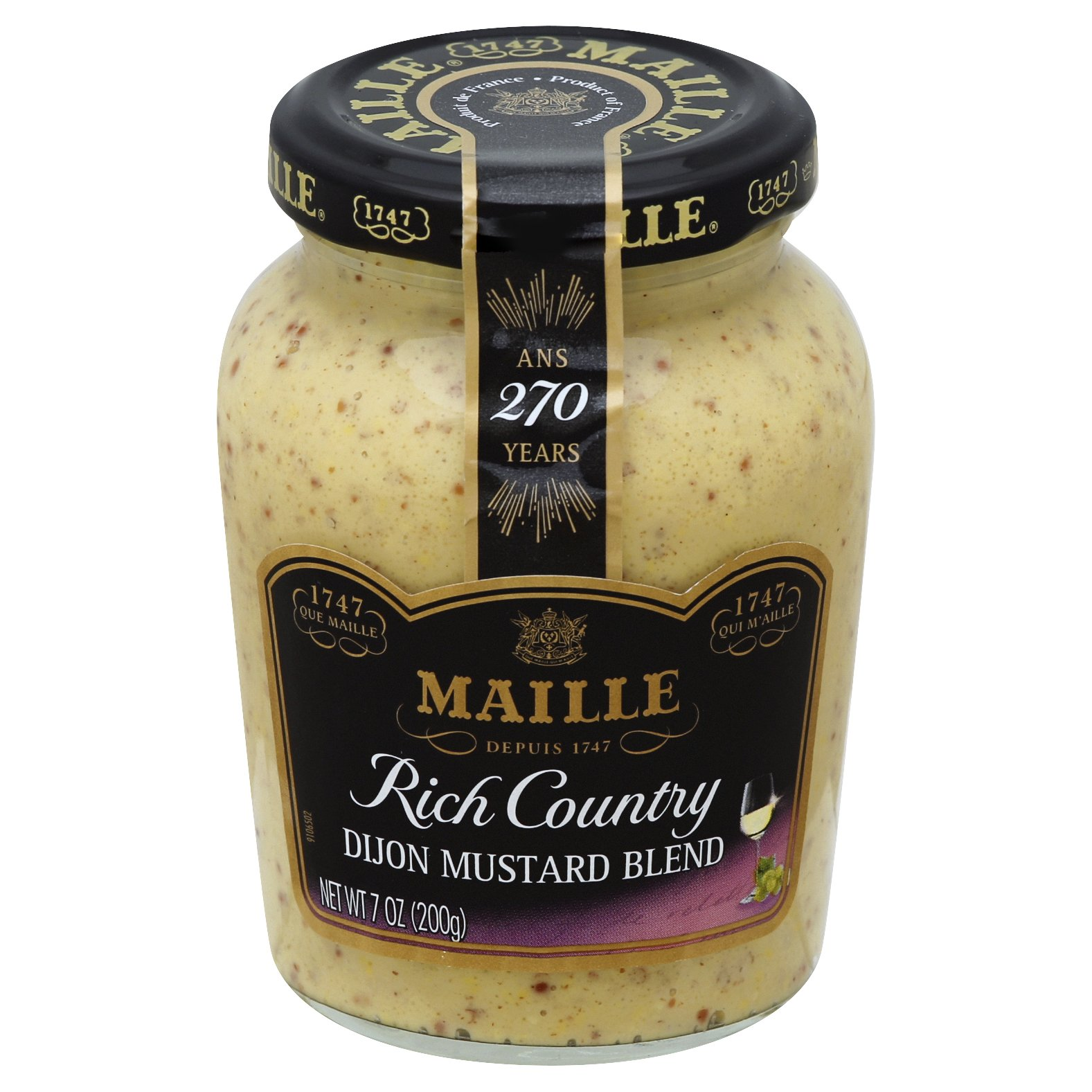 Maille Rich Country Dijon Mustard 7OZ 6-Pack