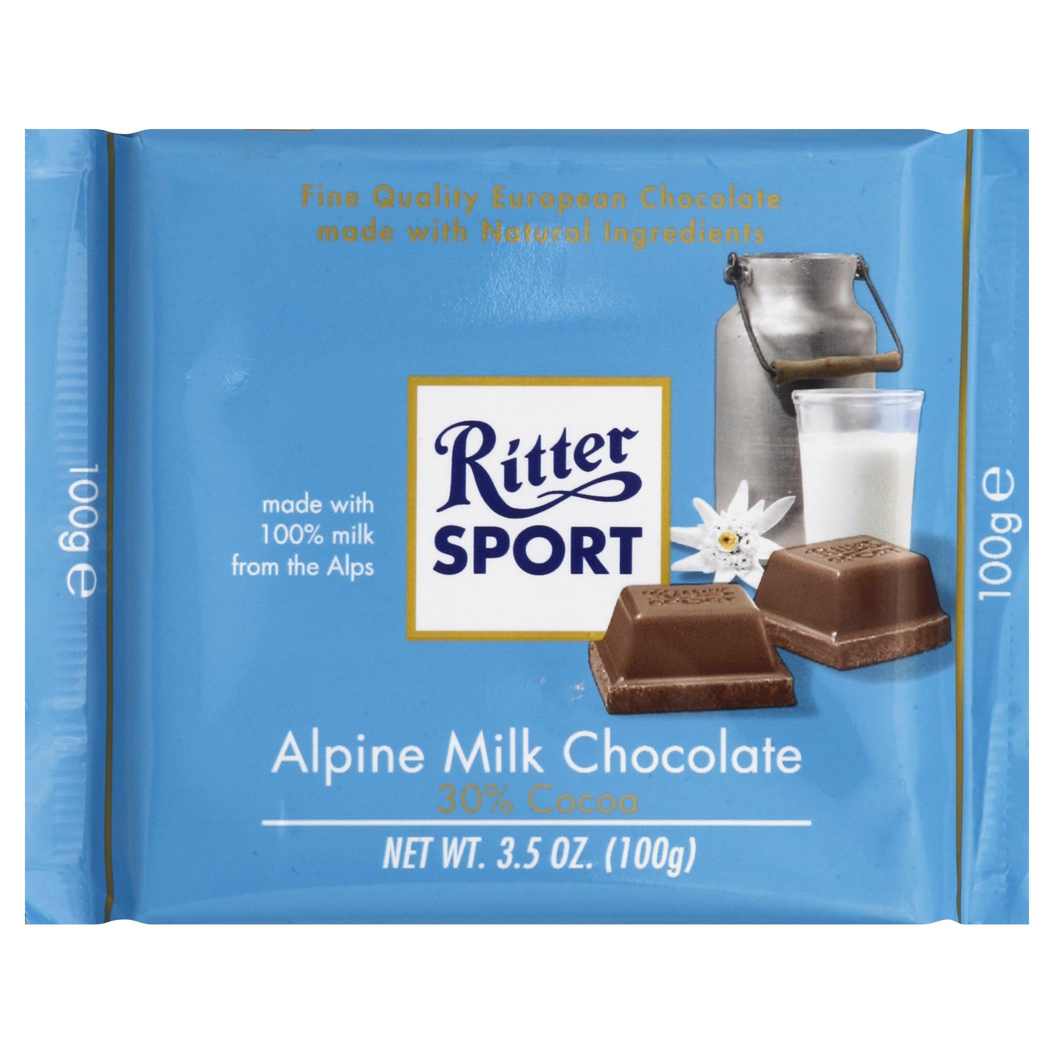 Ritter Sport Alpine Milk Chocolate 3OZ 12-Pack