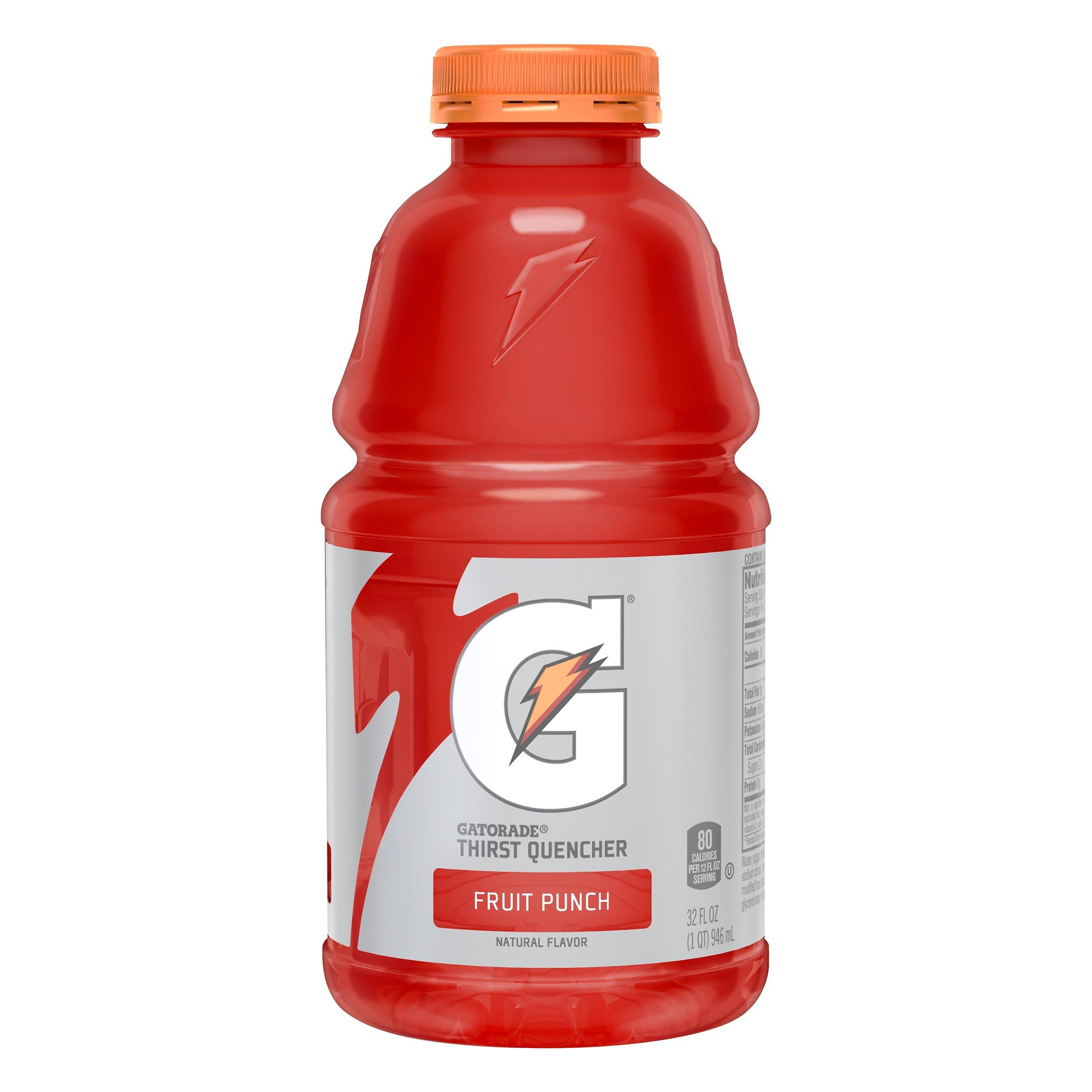 Gatorade Fruit Punch Sports Drink 32OZ 12-Pack