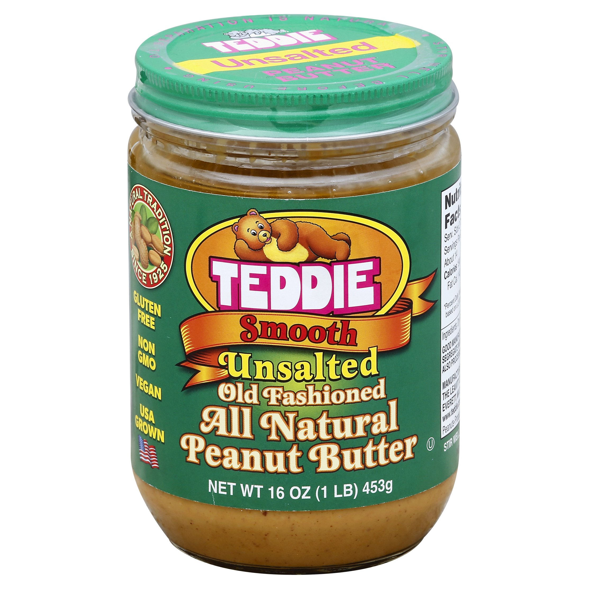 Teddie Old Fashioned All Natural Smooth Uns 16OZ 12-Pack