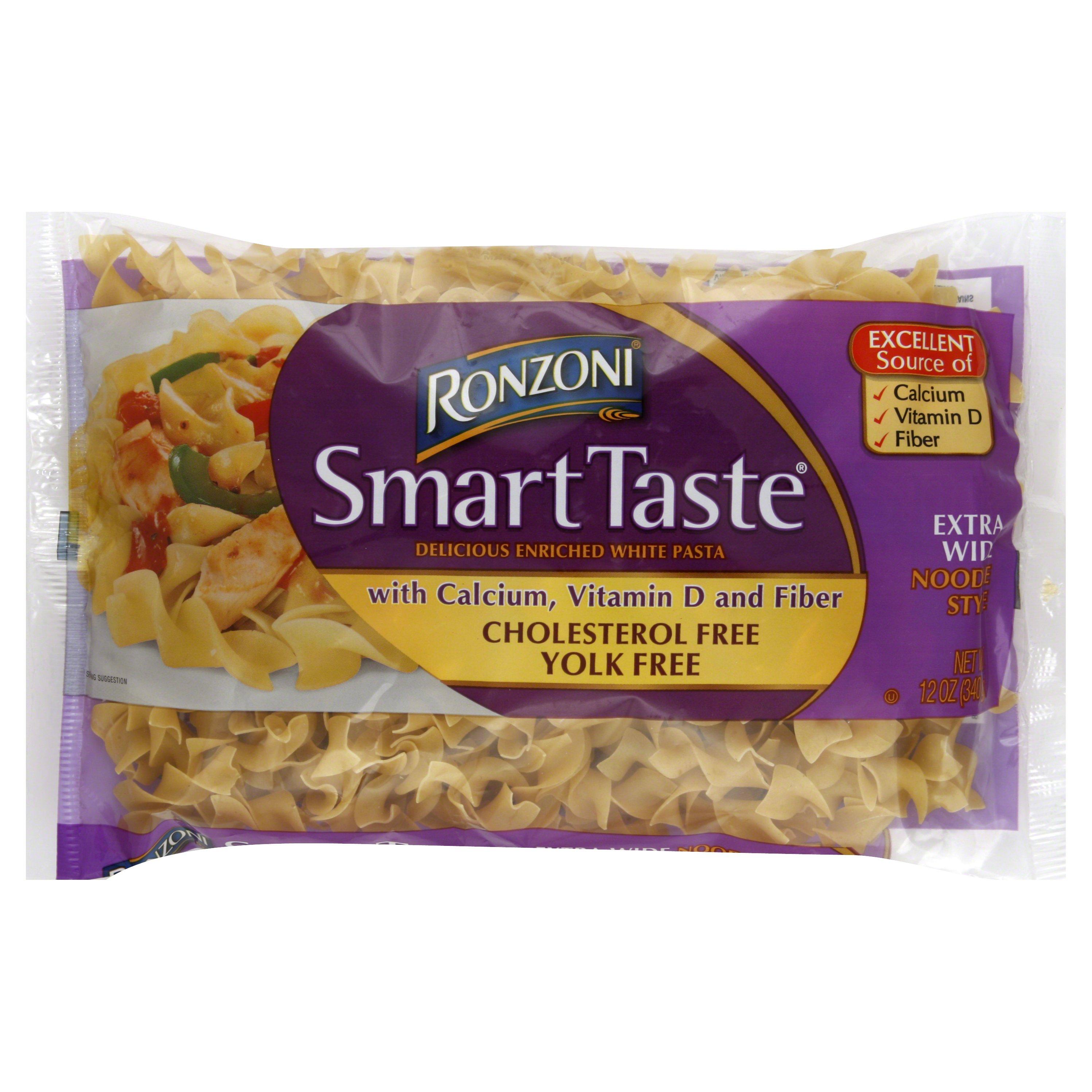 Ronzoni Smart Taste Extra Wide Noodle Style 12OZ 12-Pack