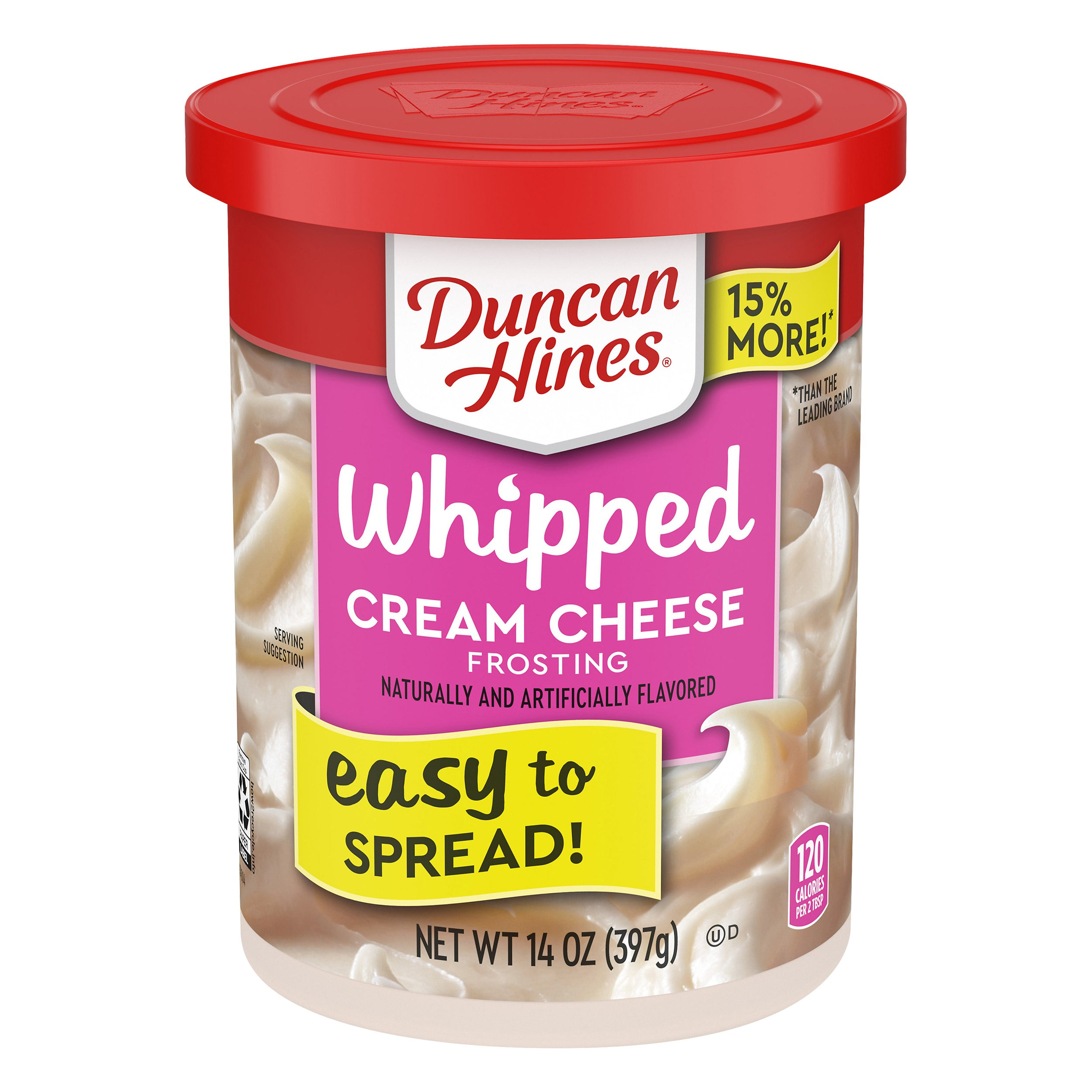 Duncan Hines Whipped Cream Cheese Fr 14OZ 8-Pack
