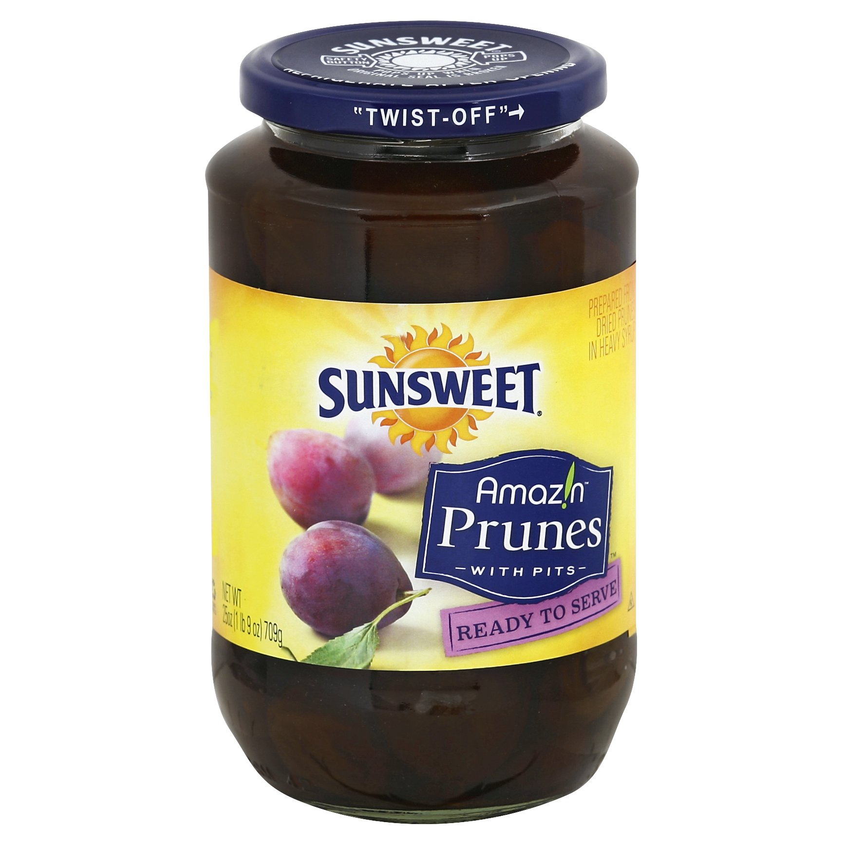 Sunsweet Amazin Prunes with Pits 25OZ 12-Pack